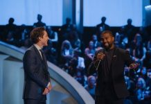 Kanye West speaking at Joel Osteen's Lakewood church.