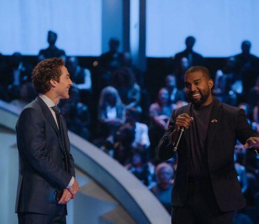 Kanye West speaking at Joel Osteen's Lakewood church.