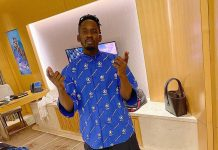 Mr Eazi in blue