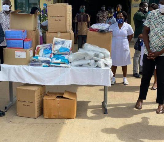 John Mahama donates PPEs to hospitals in Sogakope