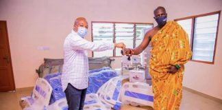Handing over ceremony of CHPS compound at Nyatikpo