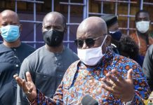 Nana Akufo-Addo visits registration centers in Accra