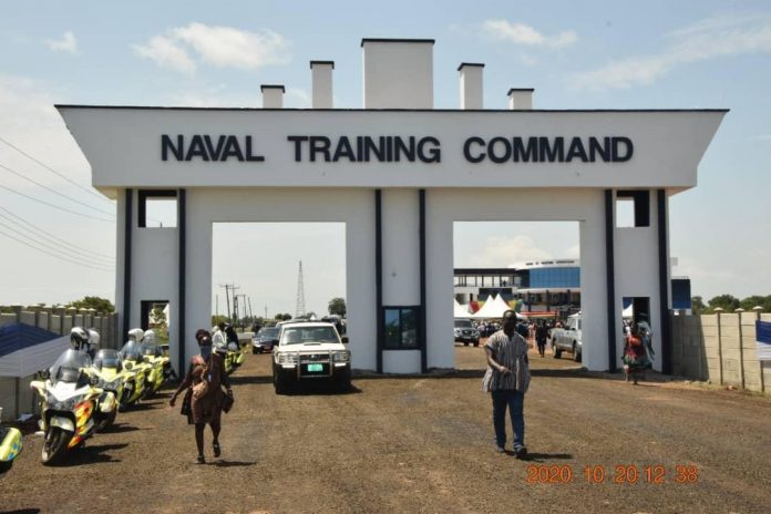 Front view of the Naval Training Command