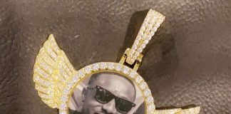 Medikal wears expensive necklace engraved with Criss Waddle's face