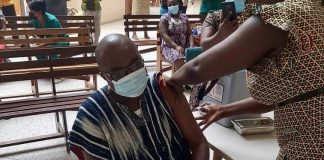 South Tongu DCE takes COVID-19 vaccine