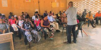 Hon. Woyome on town hall meeting