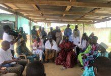 Member of Parliament for South Tongu, Hon. Kobena Mensah Mensah Woyome meets with muslims in Dabala on Eid-ul-fitr